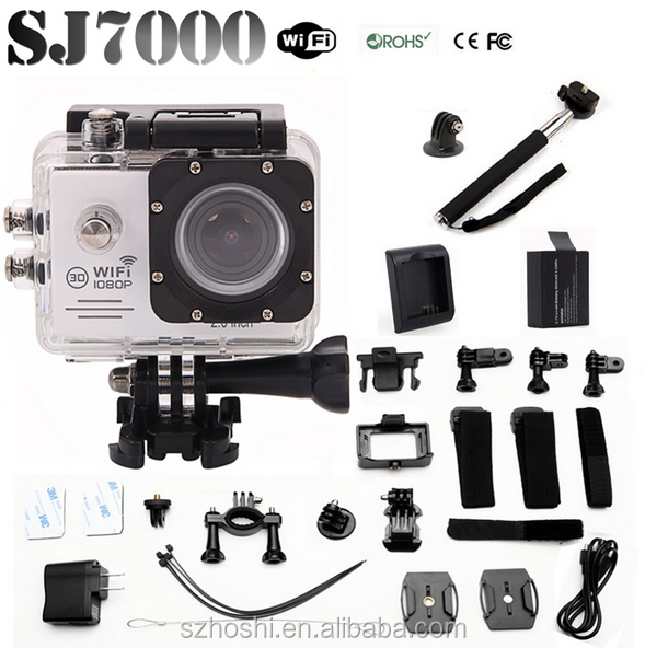 SJ7000 WIFI Action Sport Camera 14MP Full HD 1080P 2.0 LCD 170 Degree Lens 1080p action camera