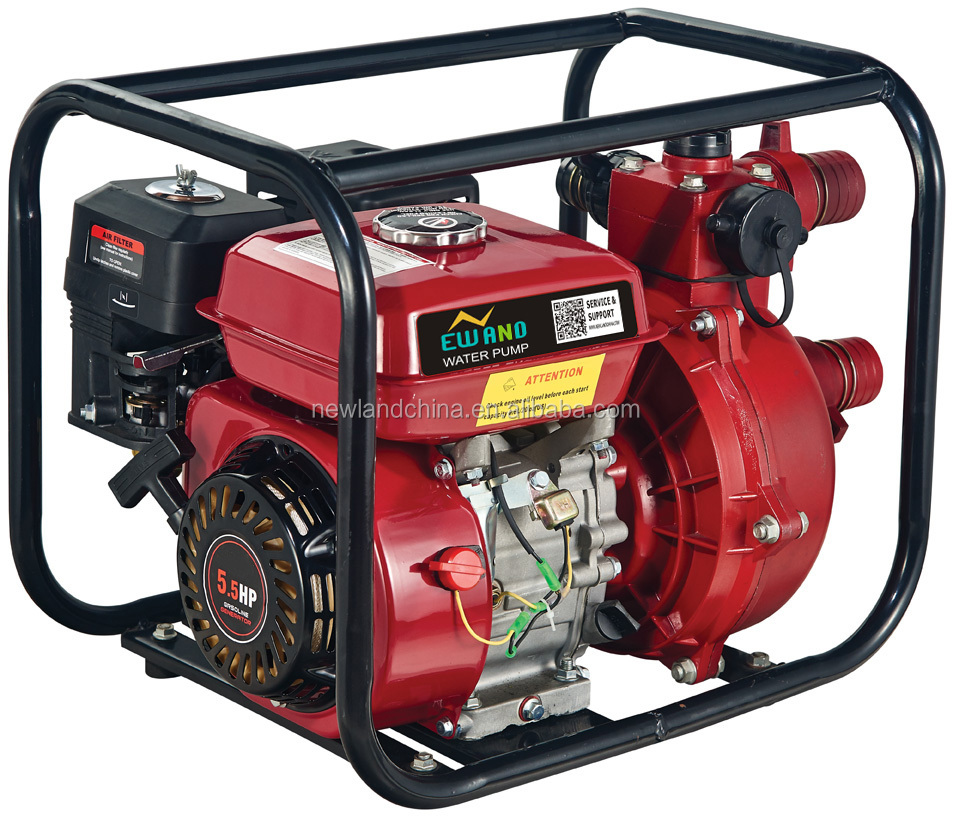 gasoline water pump for fire fighting 2-inch gasoline high pressure water pump