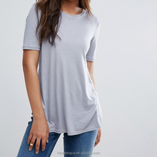 New York City Pocket Tee Elegant Top Quality Casual Wholesale Blank Cotton Womens T Shirts