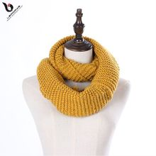 Fashion Faux Fur Trim Neck Warmer Infinity Blend Multicolor Fancy Pattern Free Winter Woman Knit Scarf