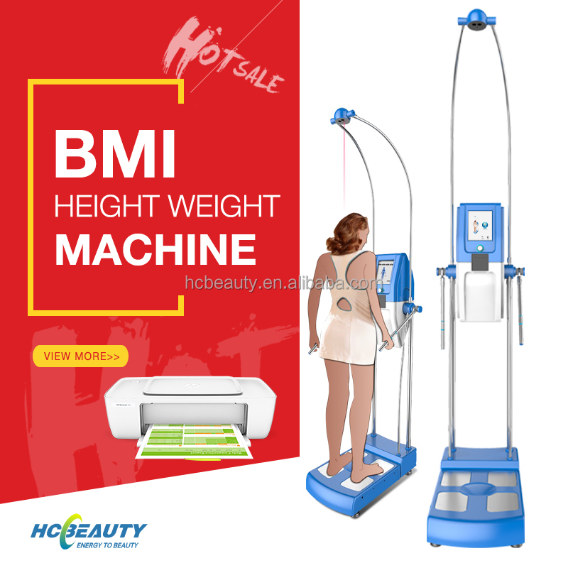 New product automatic body fat health analyzer weight height scale testing equipment