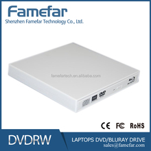 100% brand new original slot in usb2.0 external blu-ray dvd burner dvd rw optical drive (white/silver)