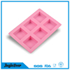 Manufacture High Quality bottom price Custom Silicone Soap Loaf Molds 6 cavities decorative silicone soap molds