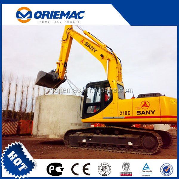 SANY Chinese new Excavator price SY210C,long boom excavator for sale