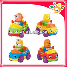 Mini Cartoon Animal Friction Car Toys For Kids Mini Plastic Car