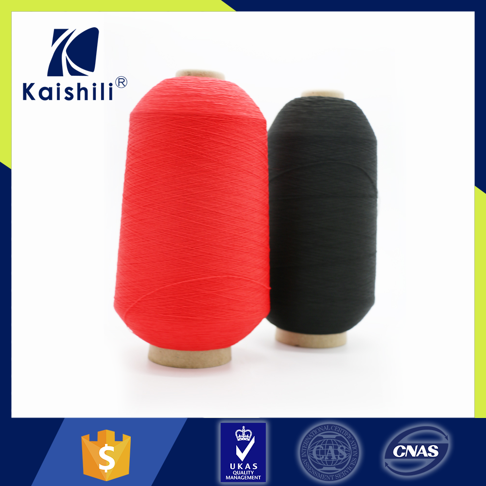 Recycled water soluble warp knitting tape yarn
