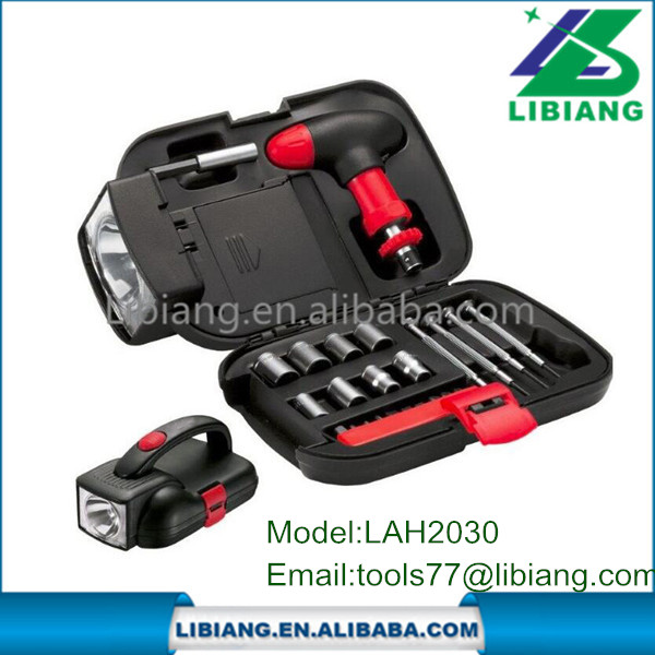 24pcs tools box set mechanic with light ,tools