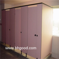 pink HPL laminate decorative antique toilet partition