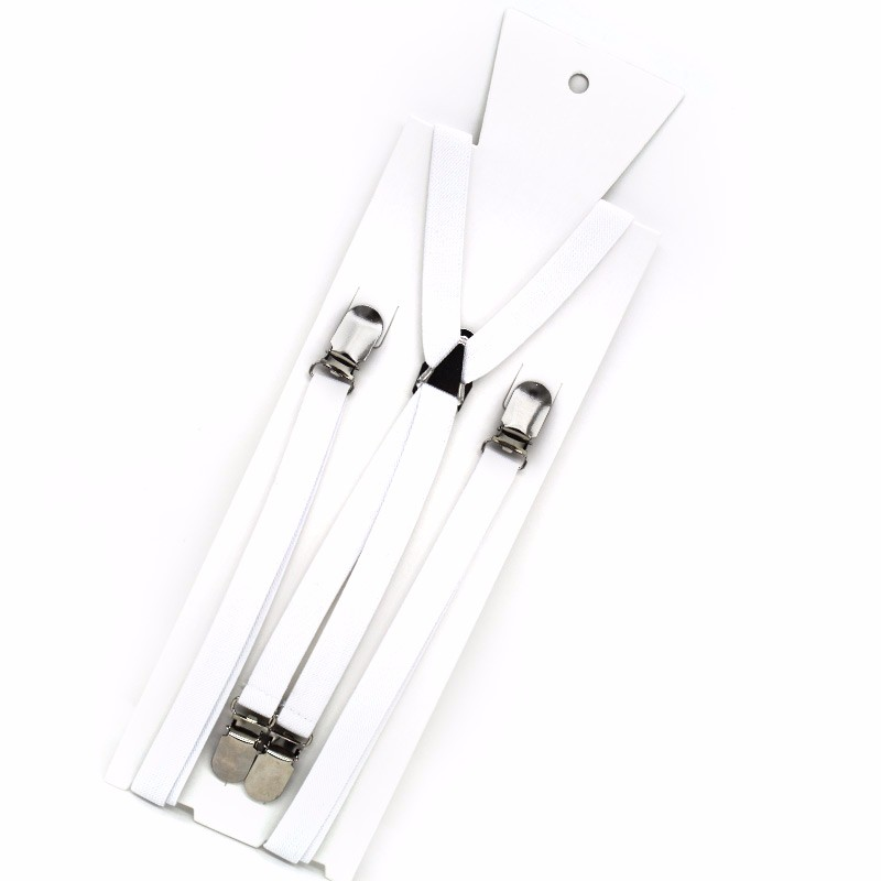 15XT4J01-2 High quality white skinny children's suspenders