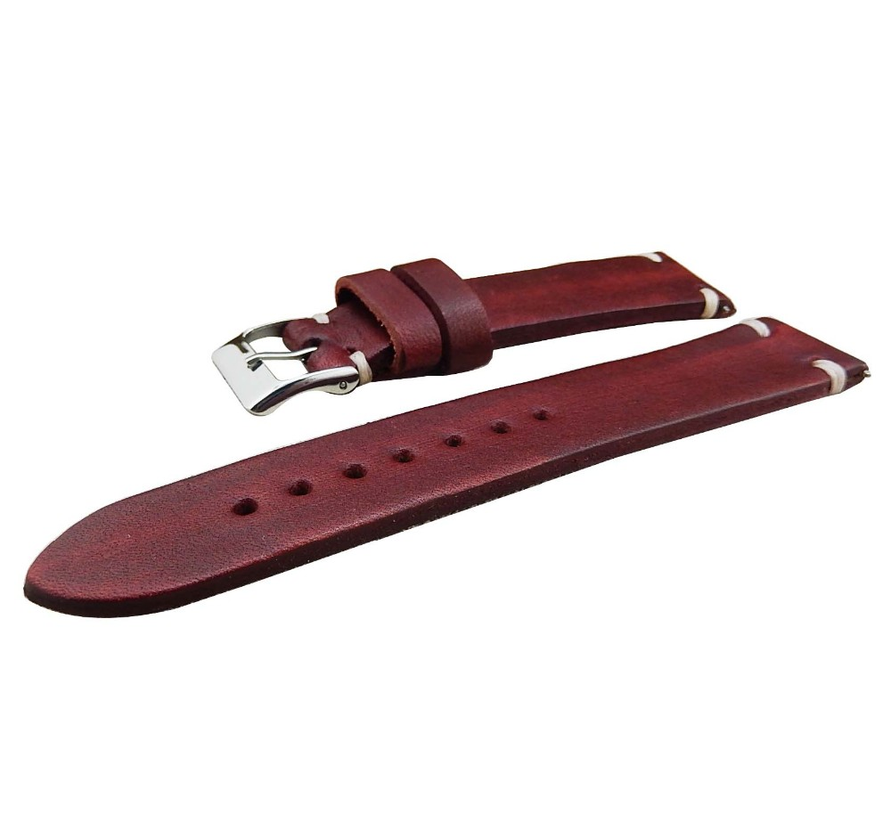 genuine leather western watch straps 18mm 20mm 22mm 24mm 26mm