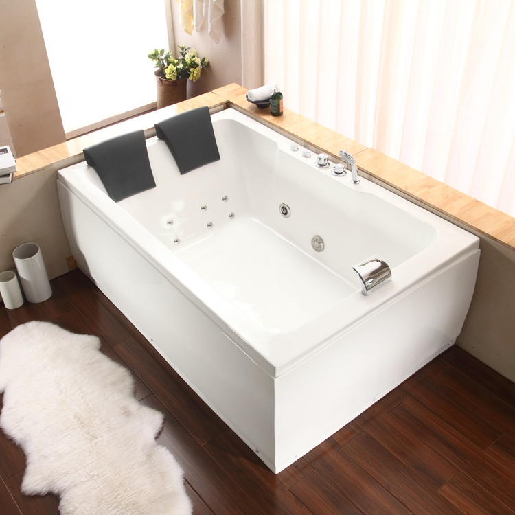 MAVAW massage bathtub whirlpool bathtub corner bath for two person
