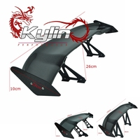 Kylin racing 3D Carbon Fiber auto universal racing Rear Spoiler with Spoiler Bracket