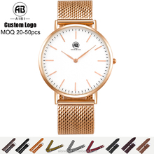2017 Wholesale high quality quartz watch,custom stainless steel watch,unisex vogue watch