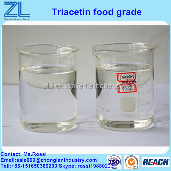 Efficient Plasticizer food grade triacetin 102-76-1 with price 850usd/MT