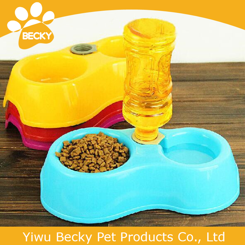 High Quality Dual Port Dog Utensils Bowl Cat Drinking Fountain Food Dish Pet Bowl Automatic Water Dispenser Feeder
