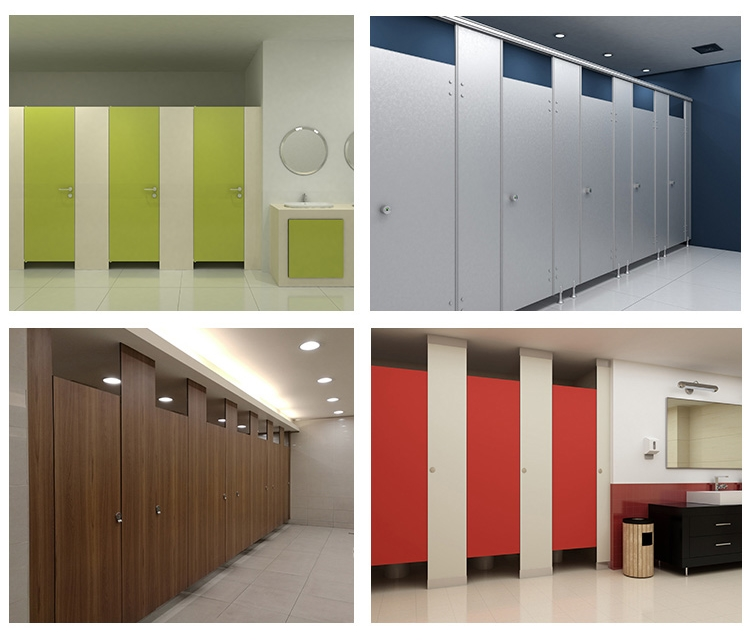 China compact laminate cheap shower painting cubicles for gym