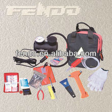 hot sale car emergency repair tool kit with air compressor