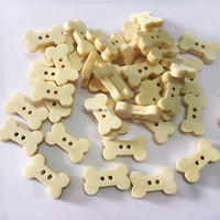 Natural Wooden Buttons Cute Bone Shape Scrapbooking DIY Craft Sewing Accessories 2 Holes Handmade Clothing Buttons