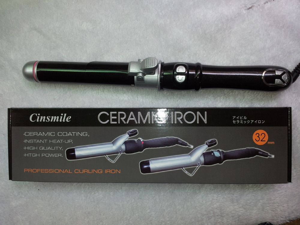 LCD display Hair Curling Wand AC Dual Voltage With Ceramic Coating