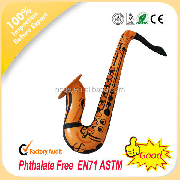 Cheap inflatable inflatable saxophone toys