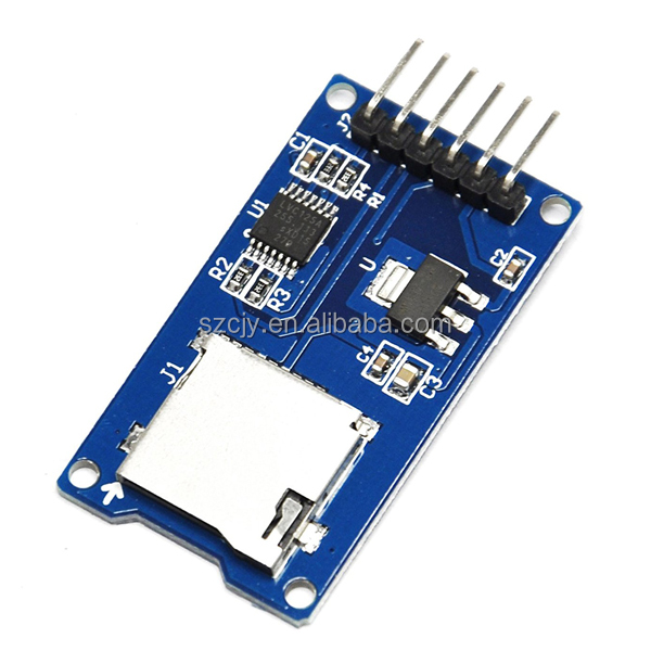 Micro SD Card & SDHC(high-speed card) Mini TF Card Reader Module Adapter SPI Interfaces with Level Converter Chip