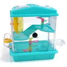 Double luxury pet environmental protection plastic wire door house hamster cage