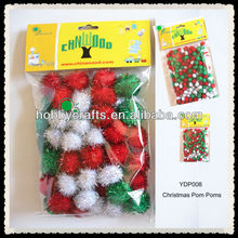 Christmas Tinsel Pom Poms for Kids Toy