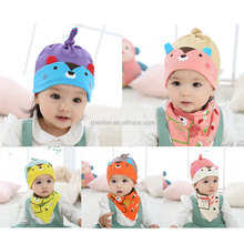 new collection unique lovely bear baby bandana bibs with hat