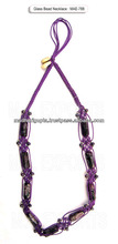 Murano glass bead necklace in violet color