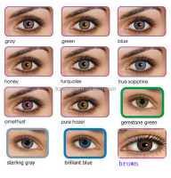 12colors 3-tone beatiful freshlook cosmetic Tri color contact lens