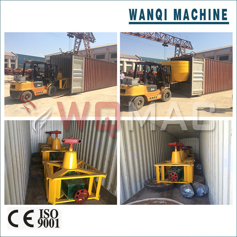 Wanqi YM-1500 Wet Pan Mixing Mill Efficient Energy-Saving Gold Grinding Machine