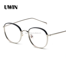 2015 Newest Design Fashion Metal Half Frameless Reading Glasses