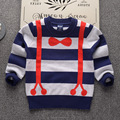 Preppy Style handsome baby boys Bow Tie cotton knitting clothes sweater designs sexy photos
