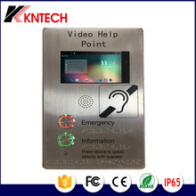 2017 Koontech Help <strong>Point</strong> KNZD-60 Video Train Telephone IP66 Emergency Calling Telephone