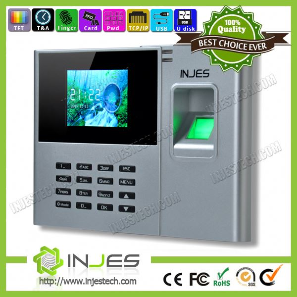TCP/IP USB Fingerprint Biometric Employee Time Clock
