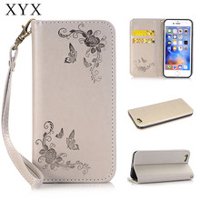 For apple iPhone 7 case Rose Flower leather Wallet Stand Smart phone case for iphone7 7plus