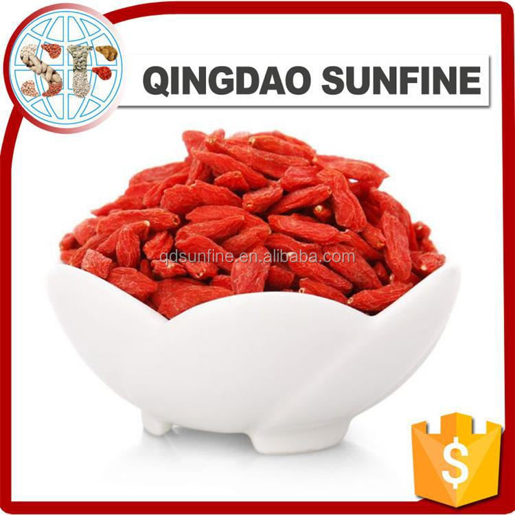 New crop ningxia organic goji berry Lycium seed for free sample dried goji berry