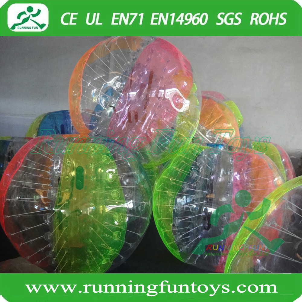 Customized color inflatable bubble football zorb balls 1.5 meters