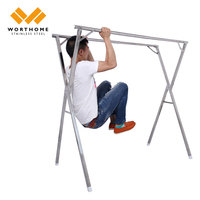 low price X type free installating metal garment rack and best selling clothes rack