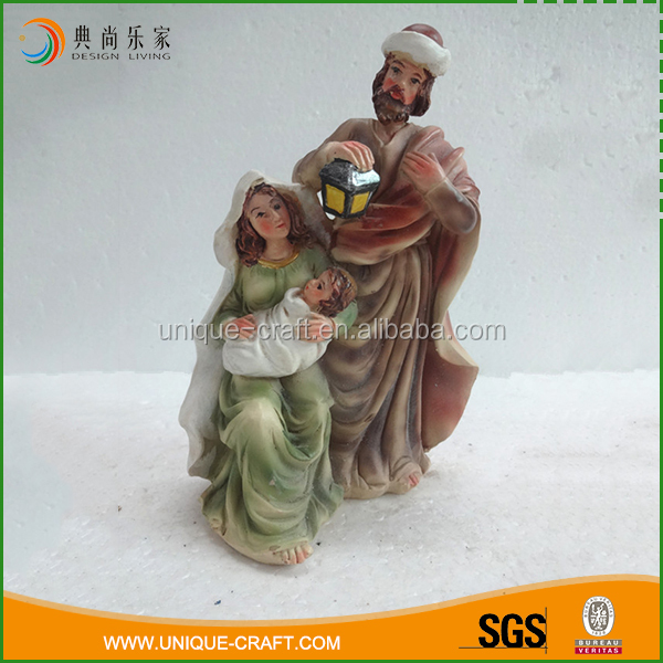 Best quality holiday resin holding small baby figurines