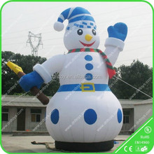 Christmas inflatables/ giant inflatable snowman cartoon, snowman inflatable