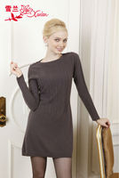 L-153-1 sweet crew neck pullover sweater dress for lady