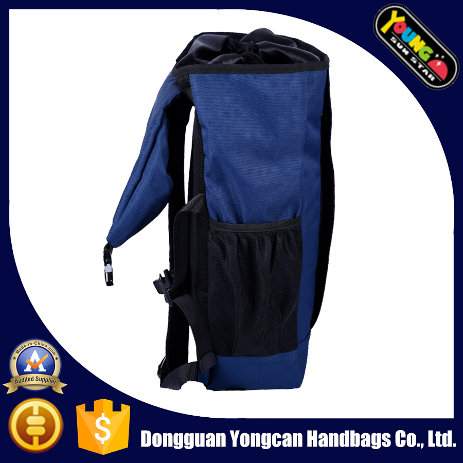 blue 600D outdoor travel hiking big backpack bags for men