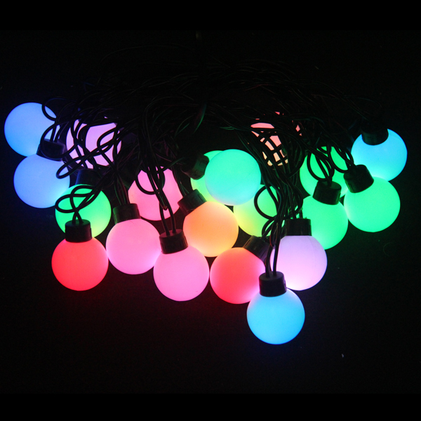 Big ball led Christmas string light for outdoor decoration waterproof