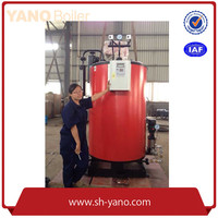 YANO Brand 1000kg/h Vertical Fuel Natural Gas / Diesel Oil Steam Boiler for Cleaning industry with CE