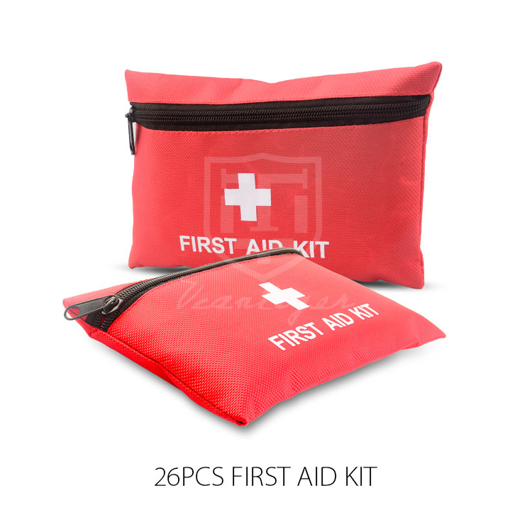 26pcs Portable Mini Emergency Car First Aid Kit with Medical Bag