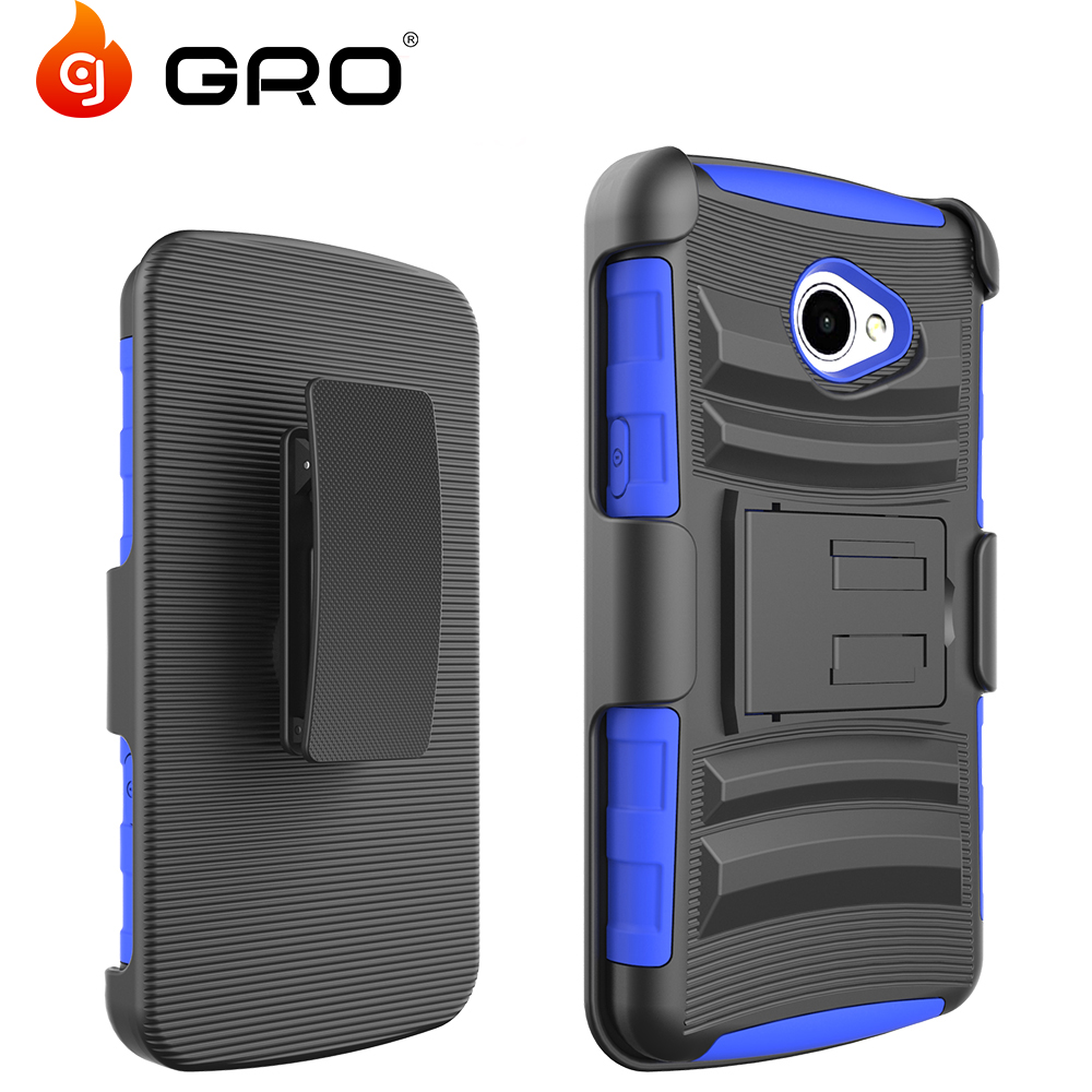 Heavy Duty Armor Holster Defender Protective Hybrid Case Cover With Belt Clip For LG K5