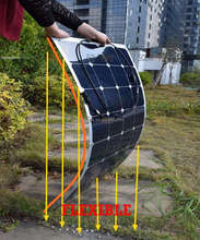 2018 new 100W semi flexible solar panels high efficiency solar cell for marine, boat, motor homes