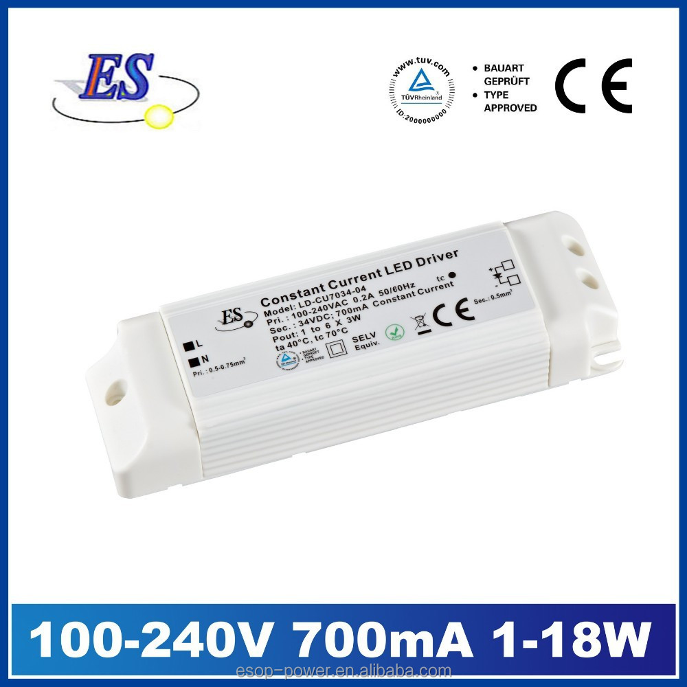 3W~18W 700mA AC-DC Constant Current LED Driver