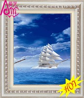 YIWU KAINA OCEAN SAILING VISION FIGURE HOT OIL PAINTING PHOTO IMAGE WALL DIY CRYSTAL DIAMOND HOME DECOR OIL PAINTING
